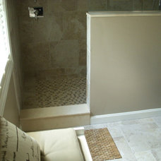 Traditional  Master Bath with walk-in shower