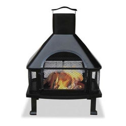 Black Firehouse With Chimney