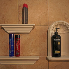 Eclectic Shower Caddies by Bathroom Tile Shower Shelves