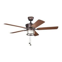 "Kichler - Kichler 310105WCP Deckard 52"" Indoor Ceiling Fan 5 Blades - Light Kit - Included Components:"