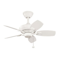 "Kichler - Kichler 300103SNW Canfield 30"" Outdoor Ceiling Fan with 5 Blades - w/6"" Downrod - Kichler 300103 Canfield 30"" Ceiling Fan"
