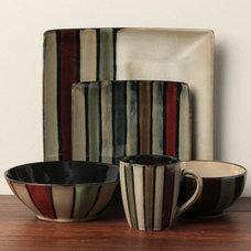 Serving Dishes And Platters Sango 'Vertigo Black' 40-piece Dinnerware Set