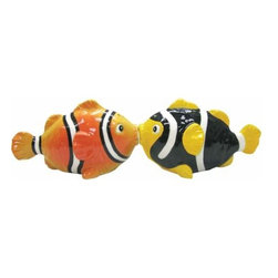 WL - 2.25 Inch Kitchenware Clown Fish Figurines Salt and Pepper Shakers - This gorgeous 2.25 Inch Kitchenware Clown Fish Figurines Salt and Pepper Shakers has the finest details and highest quality you will find anywhere! 2.25 Inch Kitchenware Clown Fish Figurines Salt and Pepper Shakers is truly remarkable.