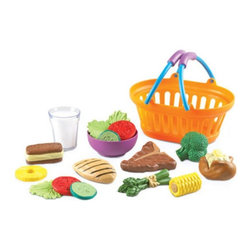 Learning Resources - Learning Resources New Sprouts Dinner Basket - LER9732 - Shop for Learning and Education from Hayneedle.com! Dinner is always ready with the Learning Resources New Sprouts Dinner Basket which features mouth-watering healthy dinner foods that are made of soft durable plastic and sport a contemporary look. The set includes a glass of milk steak grilled chicken breast asparagus bundle baked potato broccoli corn empty bowl 3 lettuce leaves 2 tomato slices 2 cucumber slices pineapple ring and ice cream sandwich. Pieces can be stored in a colorful oval basket.About Learning ResourcesA leading manufacturer of innovative hands-on educational materials and learning toys Learning Resources has been teaching children through play in the classroom and the home for over 25 years. They are a trusted source for educators and parents who want quality award-winning educational products. Their diverse product line of over 1300 products serves children and their families kindergarten primary and middle school markets focused on the areas of mathematics science early childhood reading Spanish language learning and teacher resources. Since their founding in 1984 Learning Resources continues to be guided by its mission to develop quality educational products that make learning exciting for children of all ages and abilities. They strive to create hands-on products that build a concrete foundation of skills through exploration imagination and fun.