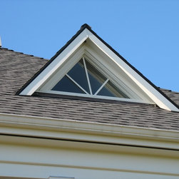 Custom windows a triangular fixed dormer window with for Eyebrow dormer windows
