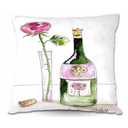 DiaNoche Designs - Pillow Woven Poplin - Rose Wine - Toss this decorative pillow on any bed, sofa or chair, and add personality to your chic and stylish decor. Lay your head against your new art and relax! Made of woven Poly-Poplin.  Includes a cushy supportive pillow insert, zipped inside. Dye Sublimation printing adheres the ink to the material for long life and durability. Double Sided Print, Machine Washable, Product may vary slightly from image.