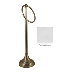 Allied Brass - Brass Countertop Guest Towel Holder - Add sophistication and convenience to your bathroom with this elegant,guest towel holder. It is solid bronze and oil rubbed to resist denting and losing its shine. The polished towel holder is a refined touch for an otherwise ordinary countertop.