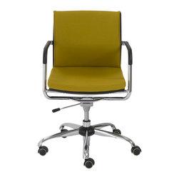 Eurostyle - Baird Office Chair-Mustard - 80% polyester