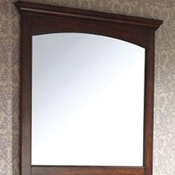 Pegasus - Vermont 36 in. Wall Mirror in Mahogany Finish - Manufacturer SKU: 9078M36. Beveled mirror. Wood cleat at back for hanging. Made from mahogany solid wood and veneers. 36 in. W x 38 in. H (37.4 lbs.)