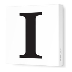 """Avalisa - Letter - Upper Case 'I' Stretched Wall Art, 18"""" x 18"""", Black - Spell it out loud. These uppercase letters on stretched canvas would look wonderful in a nursery touting your little one's name, but don't stop there; they could work most anywhere in the home you'd like to add some playful text to the walls. Mix and match colors for a truly fun feel or stick to one color for a more uniform look."""