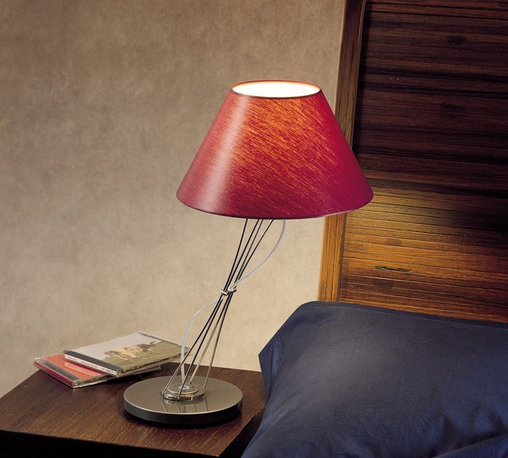 Lumina - Liz Table Lamp By Lumina Lighting - The Liz is a contemporary table lamp from Lumina. Made from stainless steel rods. The lamp body can be tilted sideways and can rotate on its own base.The diffuser is made out of a polycarbonate material and is available in different colors. Liz is designed by Yaacov Kaufman, 2001