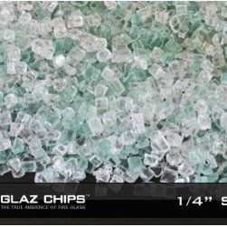 1/4 Inch Starfire-Green Fireglass (10lbs) - Enjoy the verdant glow given off when you use Starfire Green Fireglass with your indoor or outdoor gas fireplace.