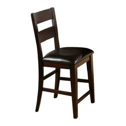 Jofran - Jofran Counter Height 1 Rung Ladder Back Stool (Set of 2) - Jofran - Bar Stools - 972BS762KD