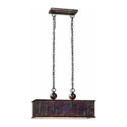 Uttermost - Oxidized Bronze Albiano Rectangle 2 Lt Pendant - Oxidized Bronze Albiano Rectangle 2 Lt Pendant