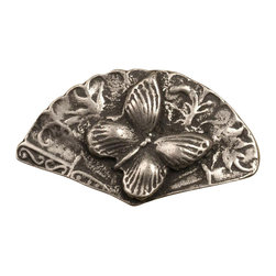 Anne At Home - Butterfly On Fan Knob (Set of 10) (Bronze) - Finish: Bronze. Hand cast and finished. Made in the USA. Pewter with brass insert. 1.75 in. L x 1 in. W x 0.75 in. H