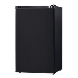 Keystone - 4.4 Cu. Ft. Refrigerator With Freezer Compartment - The Keystone KSTRC44CB Energy Star 4.4 Cu. Ft. Compact Single-Door Refrigerator, in black, is perfect for dorm rooms, rec rooms, small offices or anywhere space is limited. It has a freezer compartment, manual defrost, mechanical temperature control and three removable wire shelves. The refrigerator door has storage for canned beverages and a 2-liter bottle plus two small-item racks perfect for storing single-serve yogurt. Plus, the reversible door and adjustable legs will make sure it fits perfectly just where you need it. Energy Star 4.4 cu. Ft. Compact single-door refrigerator