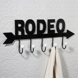 Ohio Wholesale, Inc. - Rodeo Hook Hanger - Featuring a charming, rodeo-inspired design, this piece adds Western fun and function to your space.   7'' W x 18'' H x 2'' D Metal Imported