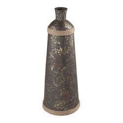 Sterling Industries - Prenton-Bronze Vase With Rope Accent - Prenton-Bronze Vase With Rope Accent