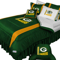 Store51 LLC - NFL Green Bay Packers Football Team 5pc Queen Bedding Set - FEATURES: