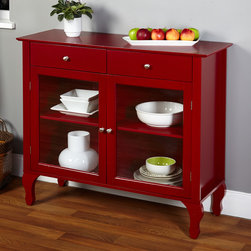 None - Layla Red Buffet - The Layla Buffet with it's unique Queen Ann legs is the perfect addition to any dining area or kitchen.