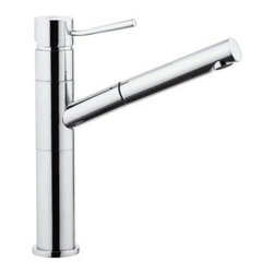 Remer by Nameeks N47 Single Hole Bathroom Faucet - You'll laugh at how you ever got by without a spray jet at your washbasin. The Remer by Nameeks N47 Single Hole Bathroom Faucet is a versatile piece that brings a plethora of new options to your lavatory experience. Not only does the sleek brass figure feature a long angled spout that extends into a pull-out sprayer but the spout itself swivels a full 360 degrees and the top-mounted handle's minimalist design is conveniently placed to be in the perfect spot for easy access and precious temperature control. Product Specifications Mount Type: Deck Mount Handle Style: Lever Valve Type: Ceramic Flow Rate (GPM): 2 Swivel: 360 Degrees Spout Height: 8.86 in. Spout Reach: 8.47 in. About NameeksFounded with the simple belief that the bath is the defining room of a household Nameeks strives to create a bath that shines with unique and creative qualities. Distributing only the finest European bathroom fixtures Nameeks is a leading designer developer and marketer of innovative home products. In cooperation with top European manufacturers their choice of designs has become extremely diversified. Their experience in the plumbing industry spans 30 years and is now distributing their products throughout the world today. Dedicated to providing new trends and innovative bathroom products they offer their customers with long-term value in every product they purchase. In search of excellence Nameeks will always be interested in two things: the quality of each product and the service provided to each customer.