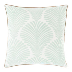 """Surya - Surya VIV-004 Pillow, 20"""" x 20"""", Down Feather Filler - Designer Florence de Dampierre will bring an exotic flair to your space with this utterly exquisite pillow. Hand made in India, this tasteful tropical design brilliantly blends with a vibrant color palette, crafting a look that will stand out from room to room within any home decor."""