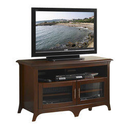 "Tech Craft - Tech-Craft Hi-Boy 48"" Wide Curved Front TV Stand in Walnut Finish - Tech Craft - TV Stands - EOS4828. This is the perfect furniture for your audio or video system. The credenza provides ample space for all your components. Store them in one of the four compartments or the open center shelf. With its transitional style this versatile and beautiful credenza fits perfectly to any decor."