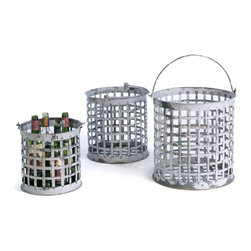 Go Home - Market Baskets-set of 3 - Storage has never been so stylish! These three well made baskets are the perfect blend of form and function! Our wire baskets will complement any style of decor. The small basket measures 10x10, medium 12x12 and the large 13.75x14.75 inches.