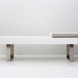 Nice bench - white matte lacquer exterior