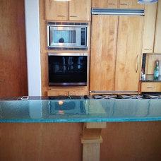 Contemporary Kitchen Countertops by Studio L. Glassworks