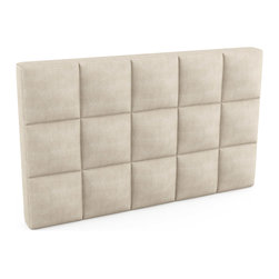 """Viesso - Upholstered Headboard - 60""""l x 36""""h x 5""""d - These custom headboards offer a large variety of fabrics and finish options, and can be made to the inch if needed. We can make them with a mounting plate as well for easy installation."""
