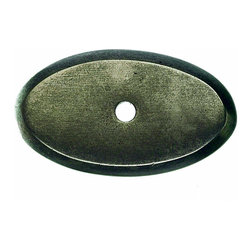 "Top Knobs - Aspen Oval Backplate - Silicon Bronze Light (TKM1435) - Aspen Oval Backplate 1 1/2"" - Silicon Bronze Light"