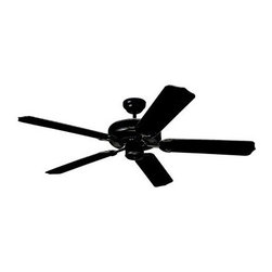 Monte Carlo 5WF52BK Weatherford 52 in. Indoor / Outdoor Ceiling Fan - Matte Blac - With its clean lines and outdoor UL listing the Monte Carlo 5WF52BK Weatherford 52 in. Indoor / Outdoor Ceiling Fan - Matte Black - ENERGY STAR is a perfect way to dress up your outdoor living space. This 52-inch ceiling fan has five fan blades with a 12-degree pitch to maximize air flow. It has a whisper-quiet induction motor that is balanced for wobble-free operation. It has a three-speed control and is finished in powder-coated matte black. An excellent way to update the look of your porch and keep it cool. What is an ENERGY STAR product?This product has earned the ENERGY STAR rating from the U.S. Environmental Protection Agency and the U.S. Department of Energy. ENERGY STAR is a voluntary labeling program designed to identify and promote energy-efficient products. These products meet strict guidelines and can help you save up to a third on energy bills compared to like products without an ENERGY STAR rating. ENERGY STAR products saved about $14 billion in 2006 alone and their numbers are growing exponentially in product categories. This ENERGY STAR product has met criteria that will save energy money and reduce greenhouse gas emissions. An excellent choice. About the Monte Carlo Fan CompanyFounded in 1996 as a division of Sea Gull Lighting Products LLC the Monte Carlo Fan Company works hard to present you with a huge variety of superior-quality ceiling fans. From traditional or understated to ornately decorative or uniquely modern these fans are both trend-inspired and timeless and are the perfect way to add comfort and style to your home's decor. Due in part to the efforts and design standards of the Monte Carlo team ceiling fans have become indispensable additions to home decor. Transform your room with ease by adding a ceiling fan. Or update your existing fan with the addition of Monte Carlo lighting kits or glass shades. The Monte Carlo Fan Company has a reputation that's built on a long history of bringing you the best. When it comes to ceiling fans Monte Carlo is ahead of the curve.