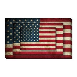 "CANVAS PRINTING WALL ART  48"" x 32"" - This is a Canvas Printing America Flag Wall Art.  Place it at office, meeting room, living room, family room, dining room, and bedroom! Great Anytime Gift, Special event Gift!!!"