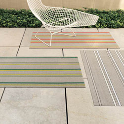 Chilewich Shag Electric Stripe Doormat -