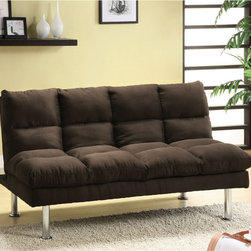 Furniture of America - Furniture of America Willow Beige Microfiber Sofa/ Futon - Provide a chic,modern style with comfort and functionality to your home decor with this two-in-one Willow Beige microfiber futon. This nicely-scaled contemporary style sofa is ideal for any room environment,large and small.