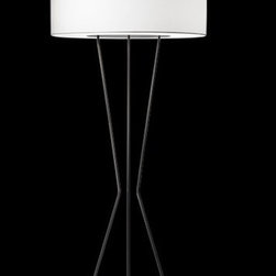 "Estiluz - Testa Floor Lamp - Features: -Floor lamp. -Testa collection. -Available in black or white finish. -Available in 20.5"" and 33.5"" width sizes. -Metal construction. -Cotton shade available in black or white finish. -Satin glass on top and perforated white diffuser at the bottom. -Additional perforated white diffuser kit available to be installed on top. -Certification of European conformity. -Protection degree certified. -Insulation class certified. -Eco friendly. Specifications: -Voltage : 120. -Floor lamp accommodates (3) 150W BT15 or A21 medium base bulb or (3) 26W GU-24 base bulb. -20.5"" Floor lamp dimensions: 60.625"" H x 20.5"" W x 20.5"" D. -33.5"" Floor lamp dimensions: 71.25"" H x 33.5"" W x 33.5"" D. -20.5"" Floor lamp shade height: 9.375"". -33.5"" Floor lamp shade height: 11.75"". Specifications Sheet"