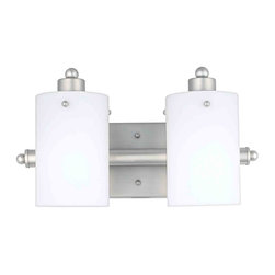 Quoizel Lighting - Quoizel AN8539ES Adano Empire Silver 2 Light Vanity - 2, 100W A19 Medium