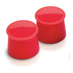 Tovolo - Candy Apple Silicone Wine Cap - Set of Two - No more struggling with corks to reseal wine bottles! Designed to resemble the bungs that seal barrels during wine-making, these caps fit snugly over your bottle's opening to keep beverages fresh, tasty and leak-free.   Includes two wine caps Silicone Dishwasher-safe Imported