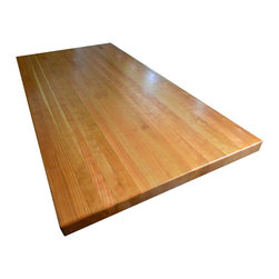 Armani Fine Woodworking - Cherry Butcher Block Countertop - Edge Grain - Armani Fine Woodworking Edge Grain American Cherry Butcher Block Countertop