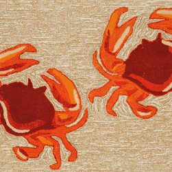 "Trans-Ocean - 24""x36"" Frontporch Crabs Natural Mat - Richly blended colors add vitality and sophistication to playful novelty designs.Lightweight loosely tufted Indoor Outdoor rugs made of synthetic materials in China and UV stabilized to resist fading.These whimsical rugs are sure to liven up any indoor or outdoor space, and their easy care and durability make them ideal for kitchens, bathrooms, and porches. Made in China."