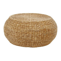 Round Woven Coffee Table - I love the texture of this coffee table. It resembles a large pouf!