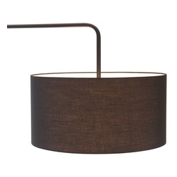 Zuo Modern - Zuo Modern Vapor Modern Floor Lamp X-57005 - Clean, straight lines create the ultra contemporary Vapor floor lamp. The body and base is black painted steel with a black fabric shade. UL approved.