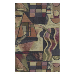 Blazing Needles - Blazing Needles S/5 Tapestry Futon Cover Package in Picasso - Blazing Needles - Futon Covers - 9680/T1 - Blazing Needles Designs has been known as one of the oldest indoor and outdoor cushions manufacturers in the United States for over 23 years.