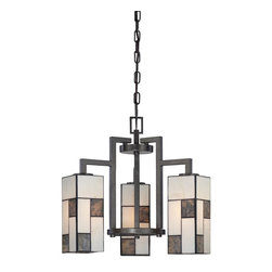 Designers Fountain - Designers Fountain Bradley Pendant Chandelier in Charcoal - Shown in picture: Bradley 3 Light Chandelier in Charcoal finish with Art Glass