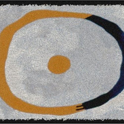 Home Infatuation - Bullseye Design Outdoor Rug, 3' X 4', Rubber Backed - This indoor/outdoor area rug is derived from the imaginative series of original art work created by artist David Milliken. Elements from the paintings are extracted to create whimsical, humorous and abstract decorative solutions for both indoors and outside.