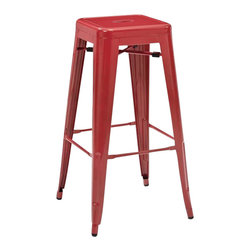 Office Star - OSP Designs Patterson PTR3030A4-9 30 Inch Steel Backless Barstool in Red [Set of - PTR3030A4-9 30 Inch Steel Backless Barstool in Red belongs to Patterson Collection by OSP Designs Series Barstool (4)
