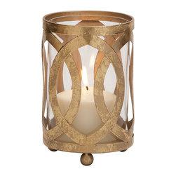 Fantastic Styled Metal Glass Candle Lantern - Description: