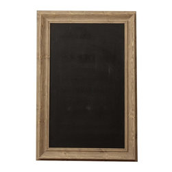Home Decorators Collection - Cafe Chalkboard - The cool tone and traditional bevel of the driftwood frame will incorporate into any kitchen, home office or craft room. The classic black chalkboard surface provides optimal contrast for your messages. Make lists, write notes and leave reminders in bistro style with our Cafe Chalkboard. Driftwood frame. Includes D-ring hanging hardware. Can be hung vertically or horizontally.