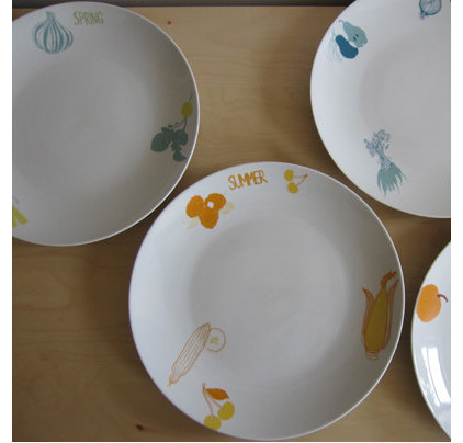 Eclectic Dinner Plates by perchceramics.com